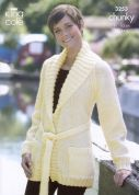 King Cole Ladies Jackets Big Value Knitting Pattern 3253  Chunky