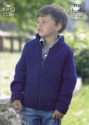 King Cole Childrens Cardigan & Jacket Big Value Knitting Pattern 3256  Chunky