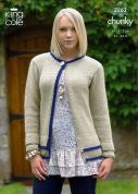 King Cole Ladies Jacket & Cardigan Merino Blend Knitting Pattern 3262  Chunky