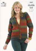 King Cole Ladies Sweater & Cardigan Riot Knitting Pattern 3267  DK