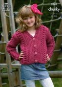 King Cole Childrens Cardigan & Gilet Magnum Knitting Pattern 3269  Chunky