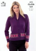 King Cole Ladies & Mens Jacket & Waistcoat Merino Knitting Pattern 3272  DK