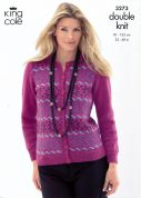 King Cole Ladies & Mens Cardigan & Slipover Merino Knitting Pattern 3273  DK