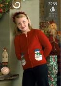 King Cole Children's Christmas Cardigan & Slipover Big Value Knitting Pattern 3285  DK