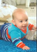 King Cole Baby Cardigans, Sweater & Slipover Big Value Knitting Pattern 3288  DK