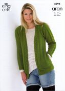 King Cole Ladies Jacket & Waistcoat Merino Blend Knitting Pattern 3293  Aran
