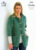 King Cole Ladies & Mens Sweater & Jacket Magnum Knitting Pattern 3294  Chunky
