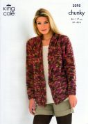 King Cole Ladies & Mens Sweater & Jacket Magnum Knitting Pattern 3295  Chunky