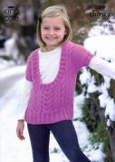 King Cole Childrens Tunic & Waistcoat Comfort Knitting Pattern 3306  Chunky