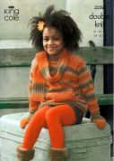 King Cole Girls Jacket, Sweater, Scarf & Mittens Riot Knitting Pattern 3326  DK