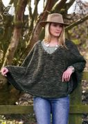 King Cole Ladies Cape & Sweater Moorland Knitting Pattern 3334  Aran