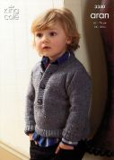 King Cole Childrens Coat & Sweater Fashion Knitting Pattern 3340  Aran