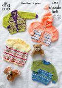 King Cole Baby Cardigan, Dress & Sweater Comfort Knitting Pattern 3353  DK