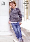 King Cole Childrens Sweaters Merino Knitting Pattern 3360  DK