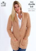 King Cole Ladies Jackets Merino Knitting Pattern 3362  DK