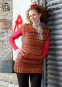 King Cole Ladies Tunic & Top Riot Knitting Pattern 3374  Chunky