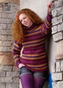 King Cole Ladies Tunic & Sweater Riot Knitting Pattern 3375  Chunky