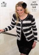King Cole Ladies Cardigan & Slipover Galaxy Knitting Pattern 3379  DK