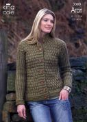King Cole Ladies Jacket & Tunic Fashion Knitting Pattern 3380  Aran