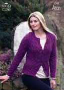 King Cole Ladies Sweater & Cardigan Fashion Knitting Pattern 3381  Aran