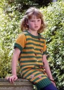 King Cole Girls Sweater & Tunic Merino Knitting Pattern 3411  DK