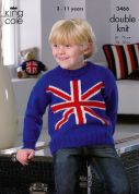 King Cole Childrens Sweater & Tunic Big Value Knitting Pattern 3466  DK