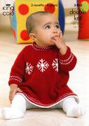 King Cole Baby Sweater & Dress Comfort Knitting Pattern 3498  DK