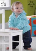 King Cole Baby Jackets & Blanket Cottonsoft Knitting Pattern 3515  DK
