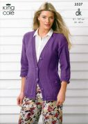 King Cole Ladies Cardigan & Top Smooth Knitting Pattern 3527  DK