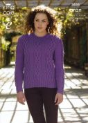 King Cole Ladies & Mens Slipover & Sweater Merino Blend Knitting Pattern 3535  Aran