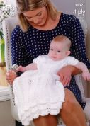 King Cole Baby Christening Set Comfort 4 Ply Comfort Knitting Pattern 3537  4 Ply