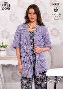King Cole Ladies Cardigan & Top Cottonsoft Crochet Pattern 3542  DK