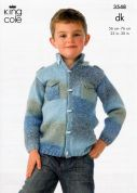 King Cole Boys Jacket & Sweater Melody Knitting Pattern 3548  DK