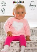 King Cole Baby Sweaters & Blanket Cuddles Knitting Pattern 3555  Chunky
