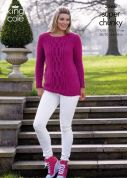 King Cole Ladies Sweaters Maxi Lite Knitting Pattern 3568  Super Chunky