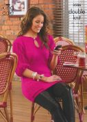King Cole Ladies Tunic & Dress Glitz Knitting Pattern 3586  DK