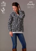 King Cole Ladies Jacket & Sweater Magnum Knitting Pattern 3595  Chunky