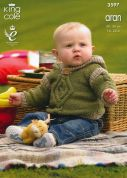 King Cole Baby Sweater, Hoodie & Pullover Big Value Knitting Pattern 3597  Aran