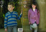 King Cole Childrens Coat & Sweater Big Value Knitting Pattern 3626  Chunky