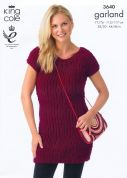 King Cole Ladies Tunic & Sweater Garland Knitting Pattern 3640  Super Chunky