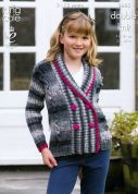 King Cole Girls Jacket & Gilet Big Value Knitting Pattern 3665  DK
