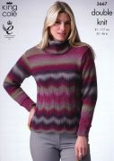 King Cole Ladies Cardigan & Sweater Riot Knitting Pattern 3667  DK
