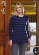 King Cole Ladies & Girls Hoodie & Sweater Galaxy Knitting Pattern 3673  DK