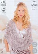 King Cole Ladies Scarf, Snoods, Poncho & Wrap Opium Knitting Pattern 3685