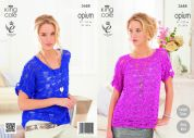 King Cole Ladies Tops Opium Knitting Pattern 3688
