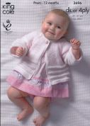 King Cole Baby Jacket, Sweater & Hat Comfort Knitting Pattern 3696  4 Ply, DK