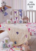 King Cole Baby Blocks, Bunting & Blanket Comfort Knitting Pattern 3702  DK