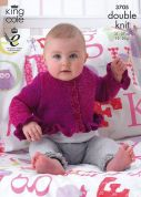 King Cole Baby Cardigans & Sweater Melody Knitting Pattern 3705  DK