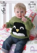 King Cole Baby Picture Cardigan & Sweater Pricewise Knitting Pattern 3708  DK