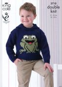 King Cole Childrens Picture Sweaters Pricewise Knitting Pattern 3710  DK